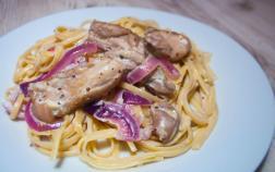 Chicken and Cream Dijon pasta