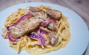 Chicken and Cream Dijon pasta